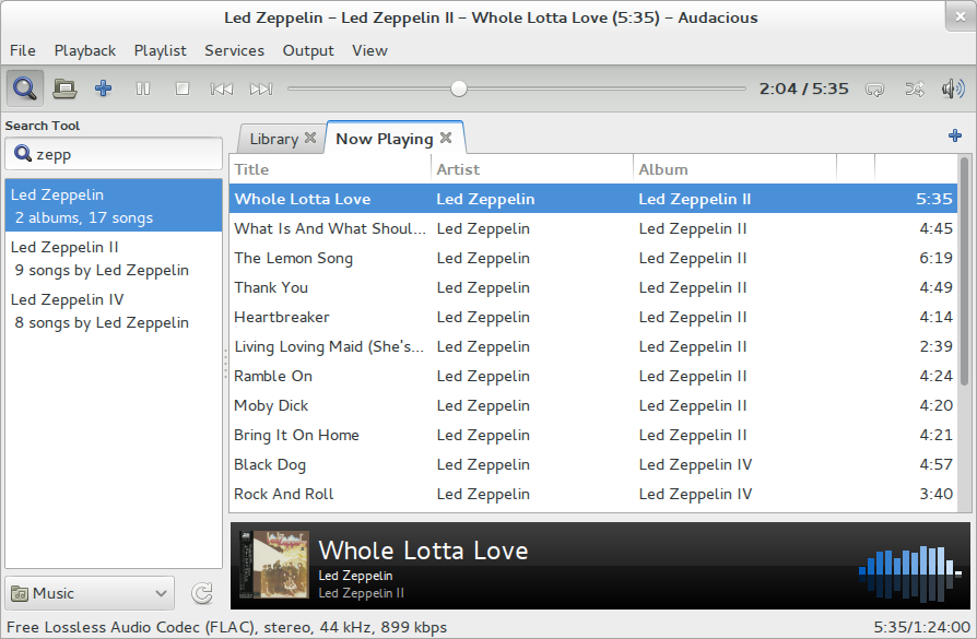 Top Five Audio player for Linux